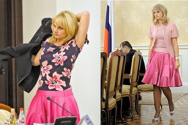 Татьяна голикова в юбке